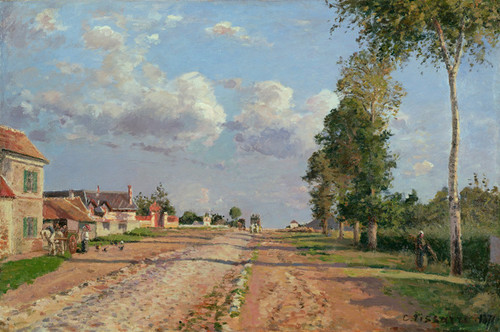 Art Prints of Road to Versailles, Rocquencourt by Camille Pissarro