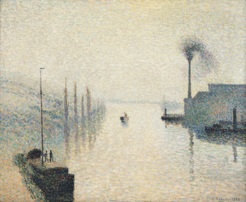 Art Prints of The Effect of Fog by Camille Pissarro