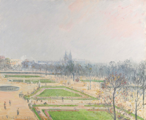 Art Prints of The Garden at Tileries, Mist by Camille Pissarro