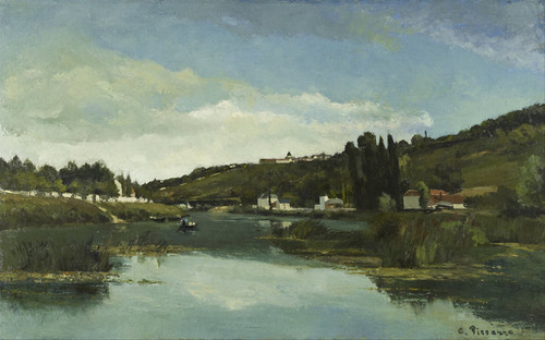Art Prints of The Marne at Chennevieres by Camille Pissarro