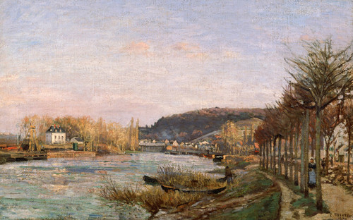 Art Prints of The Seine at Bougival by Camille Pissarro