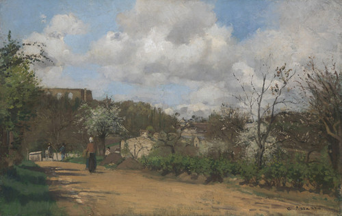 Art Prints of View from Louveciennes by Camille Pissarro