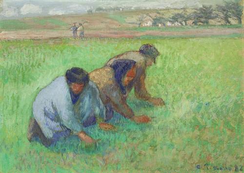 Art Prints of Weeders by Camille Pissarro