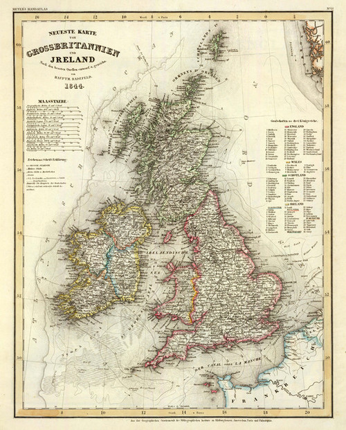 Art Prints of Great Britain and Ireland (4807021) by Carl Radefeld and Joseph Meyer