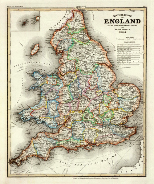 Art Prints of England, 1844 (4807022) by Carl Franz Radefeld and Joseph Meyer