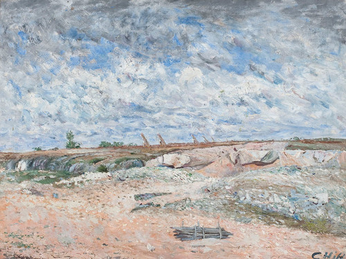 Art Prints of Landscape with Drifting Clouds by Carl Frederik Hill