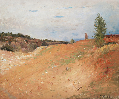 Art Prints of Gravel Pit with Wheel Tracks by Carl Frederik Hill