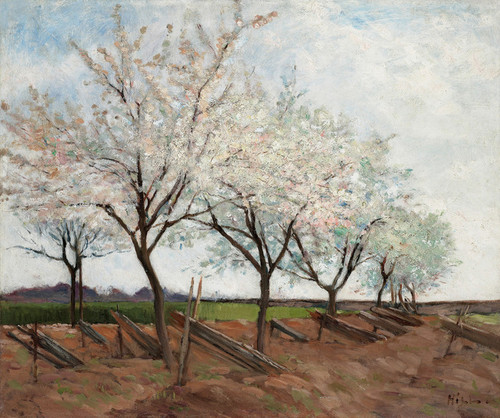 Art Prints of Blossoming Fruit Trees by Carl Frederik Hill