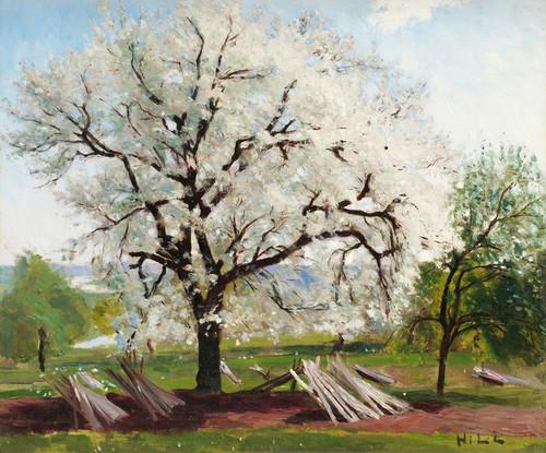 Art Prints of The Flowering Fruit Tree by Carl Frederik Hill