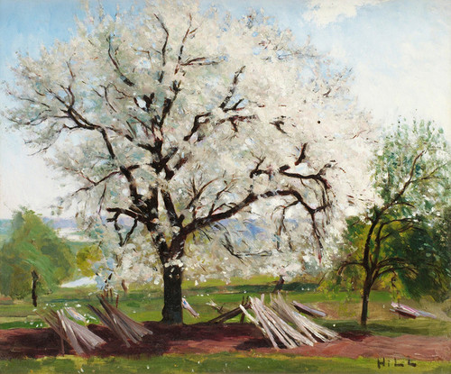 Art Prints of The Flowering Fruit Tree by Carl Frederik Hill