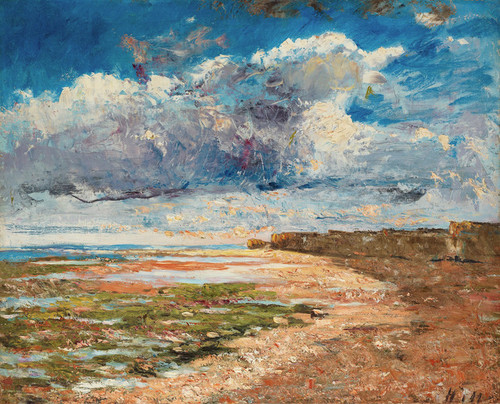 Art Prints of Clouds Over the Cliffs, Luc-sur-Mer by Carl Frederik Hill