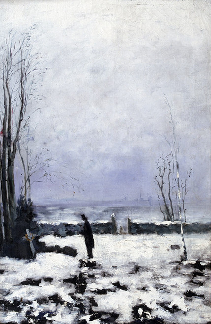 Art Prints of The Cemetary by Carl Frederik Hill