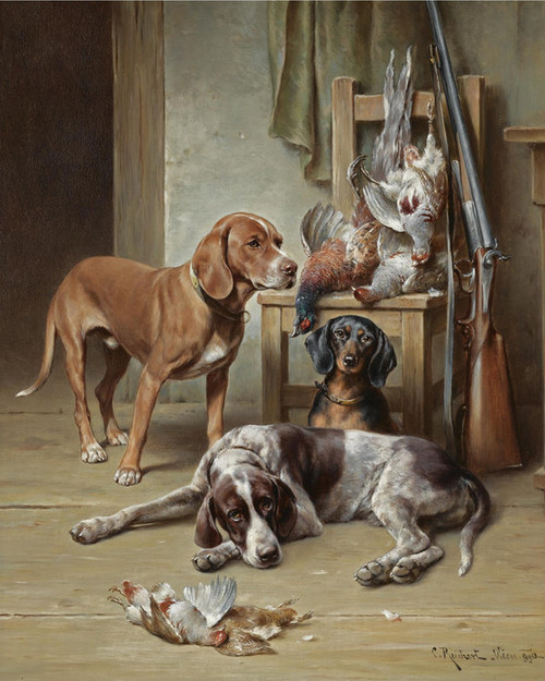 Art Prints of After the Hunt by Carl Reichert