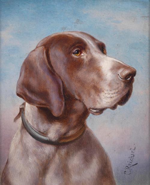 Art Prints of Hound Portrait by Carl Reichert