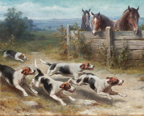 Art Prints of The Chase by Carl Reichert