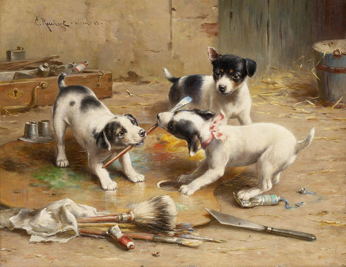 Art Prints of The Painter Dispute by Carl Reichert