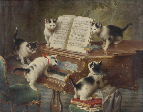 Art Prints of The Kittens Recital by Carl Reichert