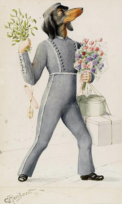 Art Prints of The Gratulant by Carl Reichert