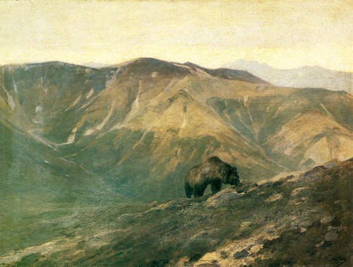 Art Prints of Bear in the Mountains by Carl Rungius