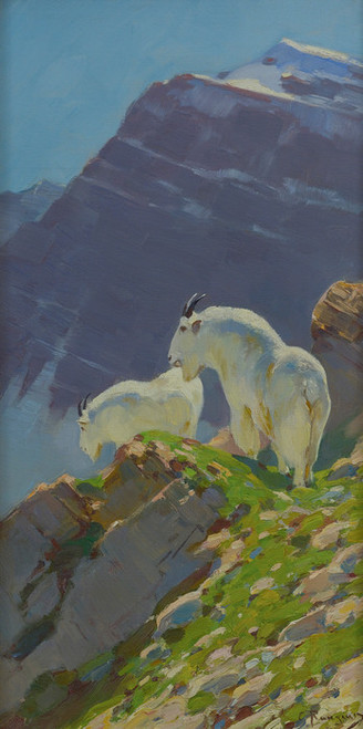 Art Prints of Mountain Goats III by Carl Rungius