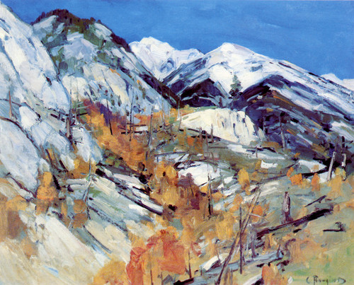 Art Prints of Rugged Mountains in the Winter by Carl Rungius