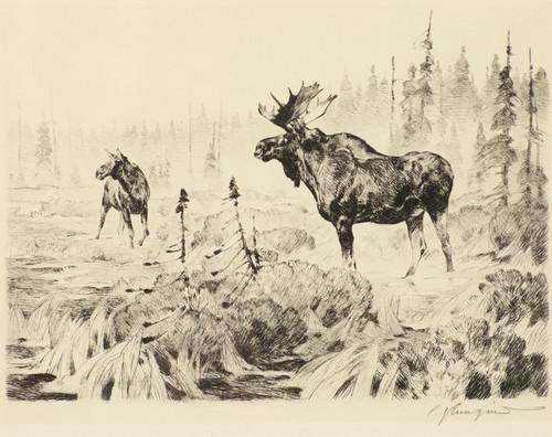 Art Prints of Near Long Lake by Carl Rungius