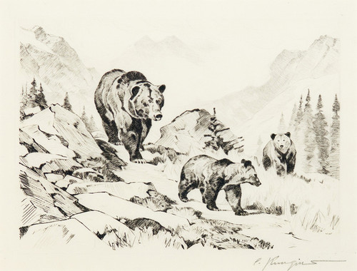 Art Prints of The Family by Carl Rungius