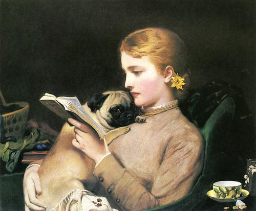 Art Prints of Blonde and Brunette by Charles Burton Barber