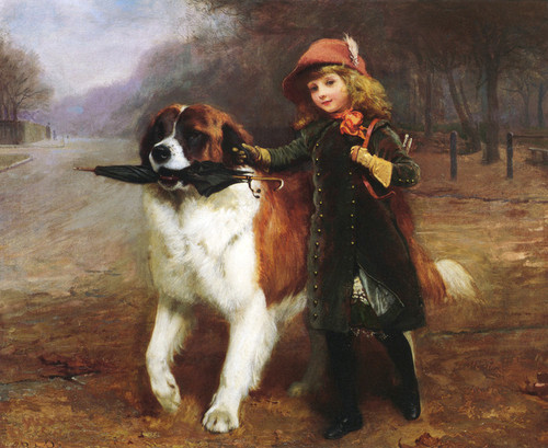 Art Prints of Off to School by Charles Burton Barber