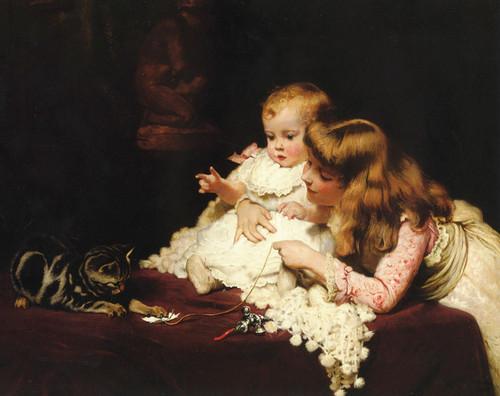 Art Prints of Playmates by Charles Burton Barber