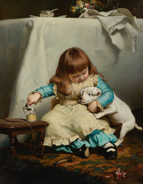 Art Prints of Once Bit, Twice Shy by Charles Burton Barber