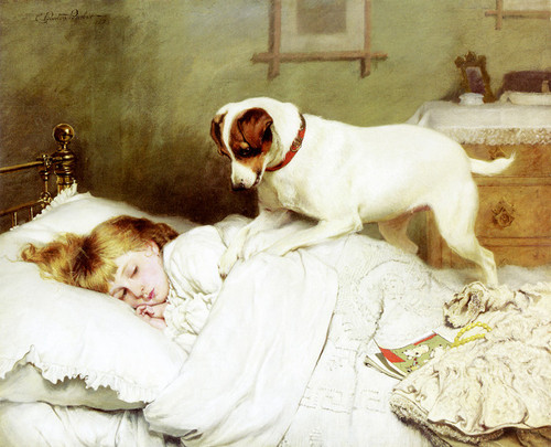 Art Prints of Time to Wake Up by Charles Burton Barber