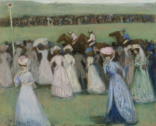 Art Prints of Champ de Courses or Racetrack by Charles Conder
