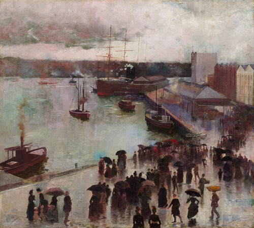 Art Prints of Departure of the Orient Circular Quay by Charles Conder