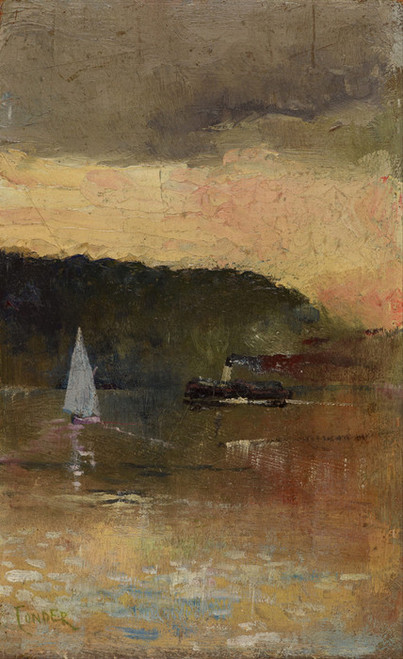 Art Prints of Sunset, Sydney Harbor by Charles Conder
