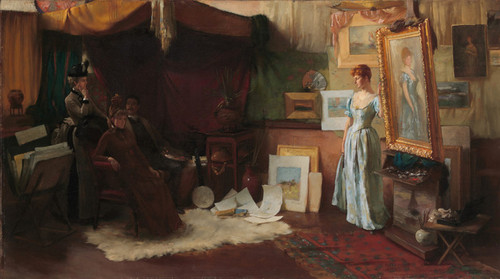 Art Prints of Fair Critics by Charles Courtney Curran