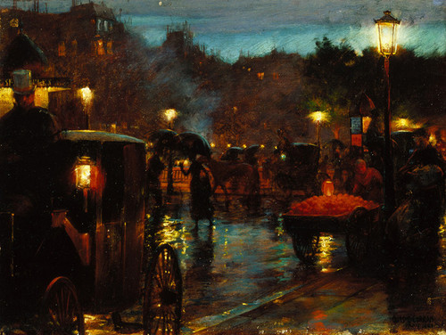 Art Prints of Paris at Night by Charles Courtney Curran