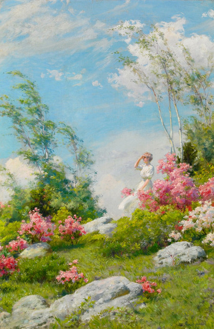Art Prints of May Morning by Charles Courtney Curran