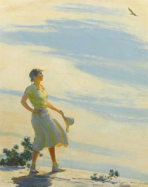 Art Prints of Sunshine on a Cliff by Charles Courtney Curran