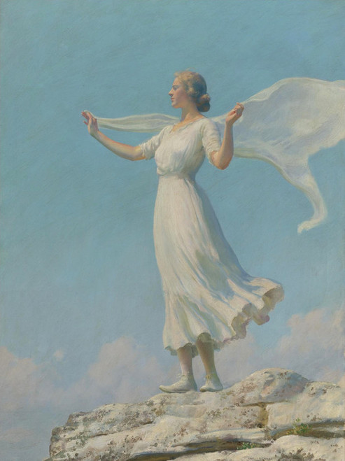 Art Prints of The South Wind or the Breezy Day by Charles Courtney Curran