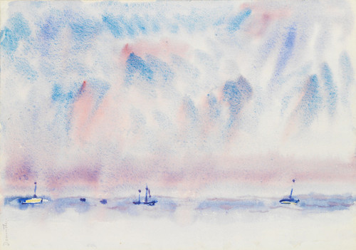 Art Prints of Bermuda Sky and Sea with Boats by Charles Demuth