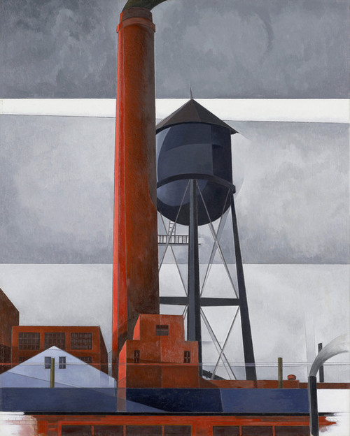 Art Prints of Chimney and Water Tower by Charles Demuth