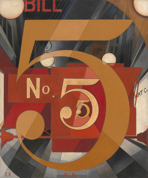 Art Prints of I Saw the Figure Five in Gold by Charles Demuth