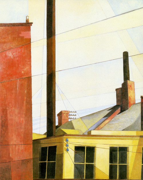 Art Prints of From the Garden of the Chateau by Charles Demuth