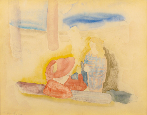 Art Prints of Resting on the Beach by Charles Demuth