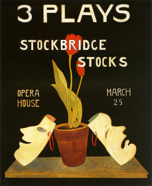 Art Prints of Three Plays Stockbridge by Charles Demuth