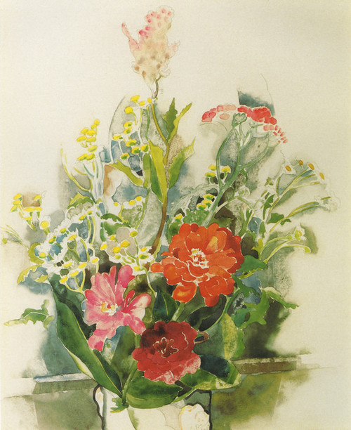Art Prints of Zinnia Bouquet by Charles Demuth