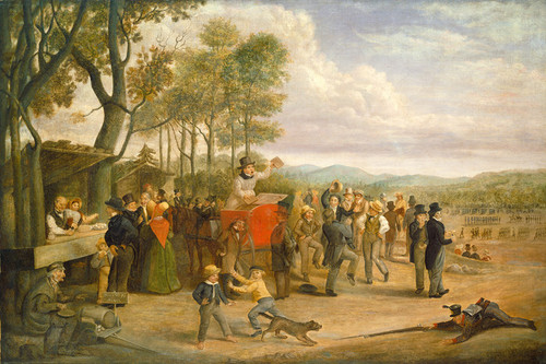Art Prints of Muster Day by Charles Henry Granger