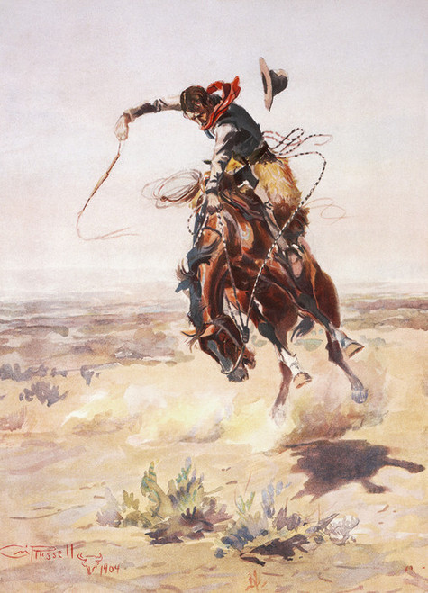 Art Prints of A Bad Hoss by Charles Marion Russell
