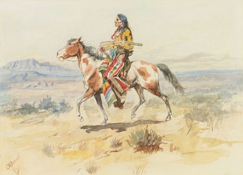 Art Prints of Blackfoot Indian by Charles Marion Russell